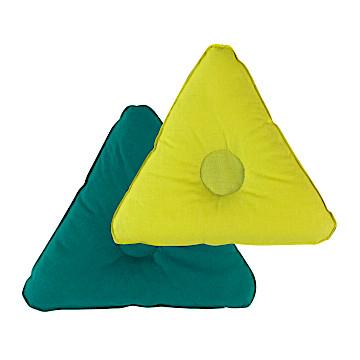豆袋単品三角<br />(黄/緑)