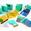 リトル・アイ 7:どうぶつ:折りたたんだ小さなカードが8枚入っています。