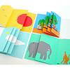 リトル・アイ 8:しぜんはともだち:折りたたまれた小冊子が4冊入っています。