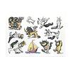 かいじゅうたちのいるところポストカードコレクション:シール10パターン