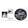 円(伊/英):左ページ:オリンピック五輪、日の丸。右ページ:鉄の粉が、裏面の磁石によって様々な模様を生み出す。