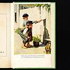 岩波少年文庫の装丁の歴史:写真04:第3期。「トム・ソーヤの冒険」の口絵。なんとカラーで、しかも絵はノーマン・ロックウェル。