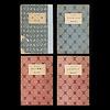岩波少年文庫の装丁の歴史2(創刊時の4冊を観る):カバーの模様は2色2種類