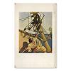 岩波少年文庫の装丁の歴史2(創刊時の4冊を観る):宝島の最初のページはカラー口絵(現在の版の表紙になっている)