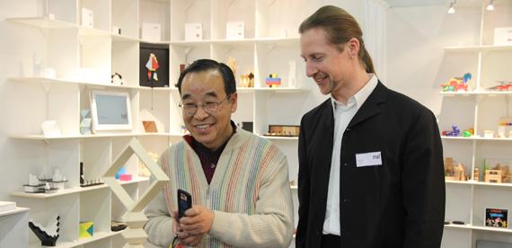 ハイコさんと相沢(2011年ニュルンベルク見本市にて)