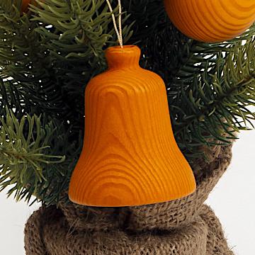 オーナメント ベックの鐘 オレンジベックの大きい鐘 オレンジ