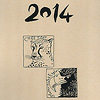 あべ弘士カレンダー2014:表紙はシンプルなイラスト(薄い茶色の紙です)