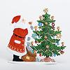 サンタとツリー:裏面