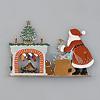 サンタのプレゼント(暖炉):裏面