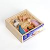 66510 ミニ聖家族5点 木箱入り:木箱入りです。