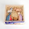 66510 ミニ聖家族5点 木箱入り:木箱にはアクリルのふたが付いています。
