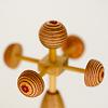 鯉のぼりセットNoB(中):風車(シナ積層材)は飾り