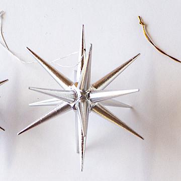 オーナメント 銀の星 立体銀の星 立体(大)