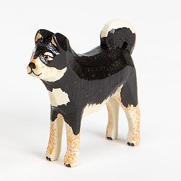 W柴犬柴犬黒