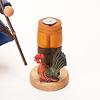 RM農夫とニワトリかご:金属の円形プレートにお香を置きます(写真は別のアイテムです)。