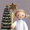 もみの木と天使 星: