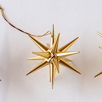 オーナメント 金の星 立体金の星 立体(小)