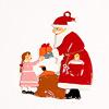 サンタと女の子:裏面