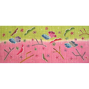 KH119/120 銀杏びな二段飾り特製垂幕(桜)