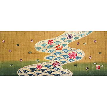 KH119/120 銀杏びな二段飾り特製垂幕(茶)