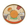 楕円びな五段飾り:5段め:御所車、籠(黒線は丸棒収納場所)