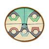 楕円びな七段飾り:3段め:五人囃子