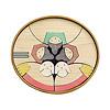 楕円びな七段飾り:5段め:三仕丁(黒線は丸棒収納場所)