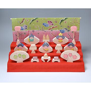 KH370/371 円びな三段飾り特製垂幕(桜)