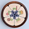 KH372/373 円びな五段飾り:3段め:五人囃子