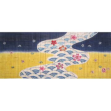 KH372/373 円びな五段飾り特製垂幕(川・紺)