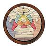 円武者三段飾り(セン):1段目:円武者とかがり火