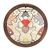 円武者三段飾り(セン):2段目:金太郎とクマ