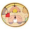 KK119/120 楕円武者三段飾り:2段目:金太郎とクマ