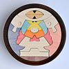 円武者三段飾り(メープル):1段目:円武者とかがり火