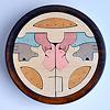 円武者三段飾り(メープル):3段目:シーソー、木馬