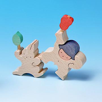 KK109/209/309 軍配を持つ金太郎とウサギ軍配を持つ金太郎とウサギ(小)