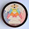 KK237/238 円武者三段飾り(小):1段目:円武者とかがり火