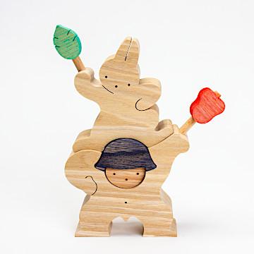 KK109/209/309 軍配を持つ金太郎とウサギ軍配を持つ金太郎とウサギ(大)