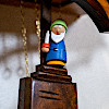 Q1101S/9W 鳩時計・白雪姫(電池式・壁白):