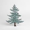 冬のモミの木 20cm:裏面