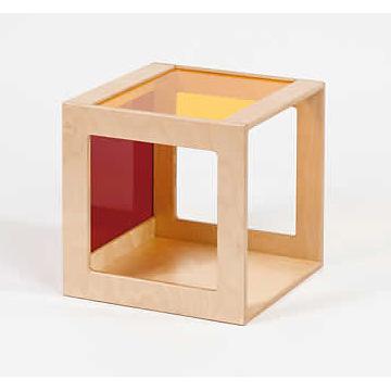 プレイキューブ アクリルガラス赤×黄