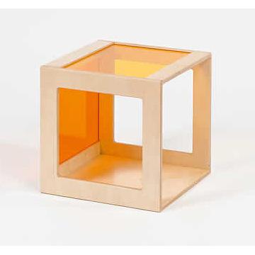 プレイキューブ アクリルガラス橙×黄