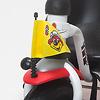 三輪車プレミアム ホワイト:黄色のフラッグがかっこいい