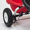 三輪車プレミアム ホワイト:後輪ブレーキは運転手気分を盛り上げます。