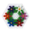 ハマビーズボードS 六角(透明):作品例