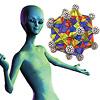 ゾムツール グリーンラインキット:こんな形もできちゃう(なぜに宇宙人?)