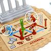 アテネ像をさがせ!:パズルの目的は、アテネ像の上半身を持った学者のリーダー(右のマル)を、土台(マル)まで運ぶこと。