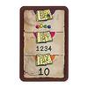 魔法のステッキ:カードには、3段階で遊べるように、上から「色」「数字」「足し算の答」が書いてあります。