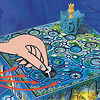 お姫様を助けるのは誰だ:魔法使いは他のプレーヤーに目を閉じさせてから鍵を隠します。