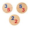 お姫様を助けるのは誰だ:数字サイコロの青(魔法使い)と赤(ロビン)に従って、それぞれのコマを動かします。
